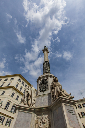 immaculate: View at Column of the Immaculate Conception in Rome, Italy