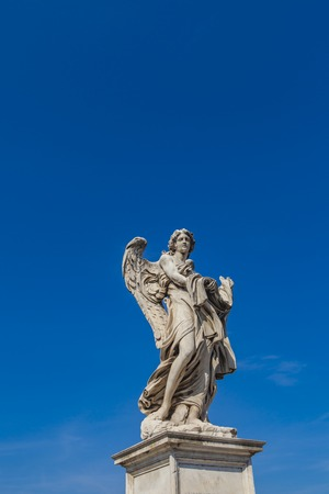 architecture monumental: Angel statue at Sant Angelo Bridge in Rome, Italy