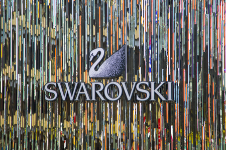 TOKYO, JAPAN - OCTOBER 2, 2016: Swarovski shop in Tokyo, Japan. It is an Austrian producer of luxury cut lead glass (crystal), founded at 1895.