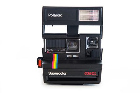 BELGRADE, SERBIA - SEPTEMBER 26, 2016: Polaroid 635CL instant vintage camera. Polaroid company was founded in 1937 in Cambridge, Massachusetts.
