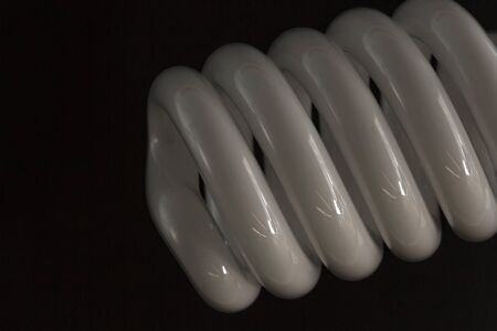lose up: lose up view at Energy-saving light bulbs Stock Photo