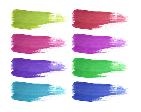 Shape of different color isolated on white background Stock Photo