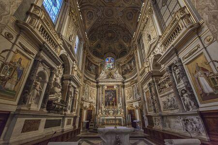 church interior: Catholic church interior in Italy