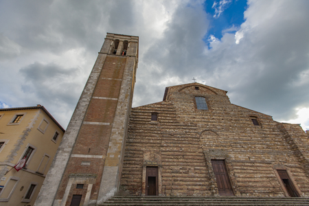 montepulciano: Exterior of the old church in Montepulciano, Italy Stock Photo