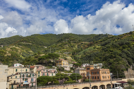 foothill: Houses at the foothill in Monterosso al mare