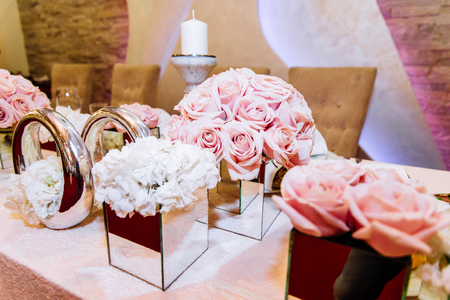 luxuriously: View at luxuriously decorated wedding table