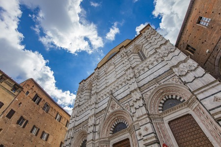 Backside of the Siena cathedral in Italy