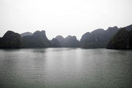 Beautiful seascape in Ha Long Bay, Vietnam.