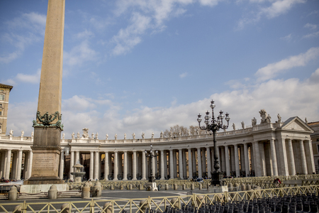 Detail of the Saint Peter square in Vatican