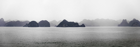 Panoramic view at Ha Long Bay in Vietnam