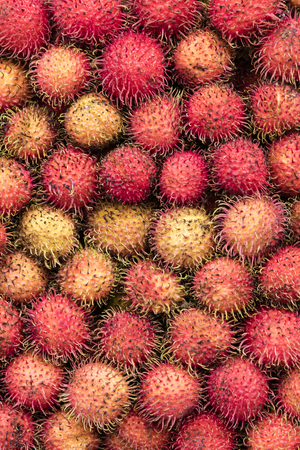 Rambutan fruits on the market in Ho Chi Minh, Vietnam