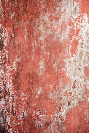 Closeup detail of the old red stone wall Stock Photo