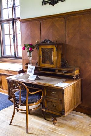 PRAGUE, CZECH REPUBLIC - NOVEMBER 11, 2015: Detail from Antonin Dvorak Museum in Prague. Museum  is dedicated to great Czech composer Antonín Dvorak