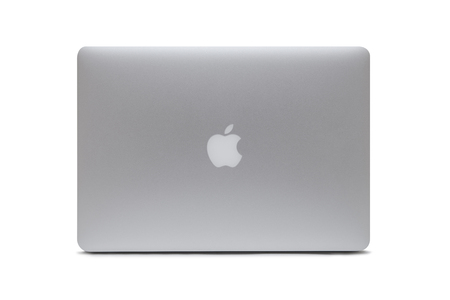 BELGRADE, SERBIA - MARCH 3, 2017: MacBook computer isolated on white. The MacBook is a brand of notebook computers manufactured by Apple Inc. Editorial