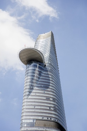 HO CHI MINH, VIETNAM - FEBRUARY 22, 2017: Bitexco Financial Tower in Ho Chi Minh, Vietnam. This 262 meter high skyscraper  was opened at 2010. Editorial