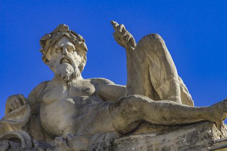Detail of the Porta Garibaldi in Milan, Italy