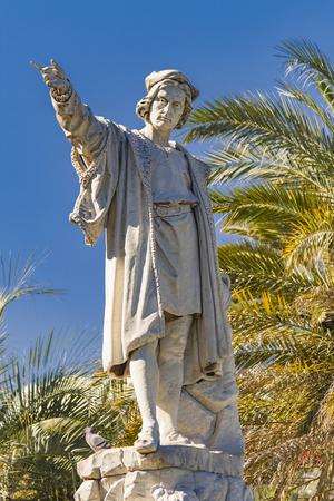 Monument to Christopher Columbus in Santa Margherita Ligure, Italy Stock Photo