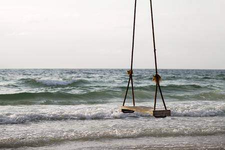 Schommeling bij het strand van Sao in Phu Quoc in Vietnam