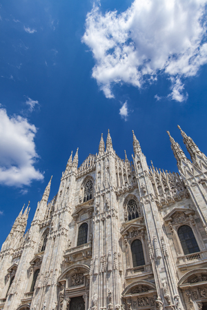 Detail of the Milan cathedral in Italy on sunny day Reklamní fotografie
