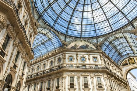 Detail of the Galleria Vittorio Emanuele II in Milan, Italy