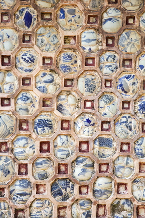 Detail of the decoration from Royal Palace in Hue, Vietnam Stock Photo