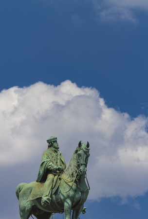 sforzesco: View at Garibaldi monument in Milan, Italy
