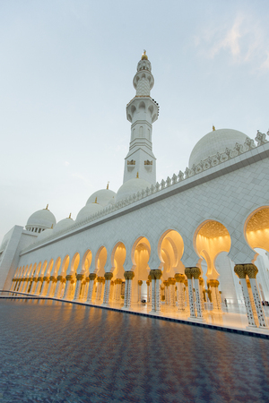 Detail of Sheikh Zayed Grand Mosque in Abu Dhabi Editorial