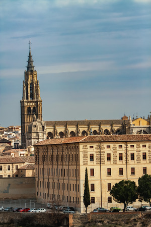 View at old town Toledo in Spain Stock Photo