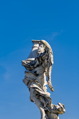 Detail of the statue at San Angelo bridge in Rome, Italy Stock Photo