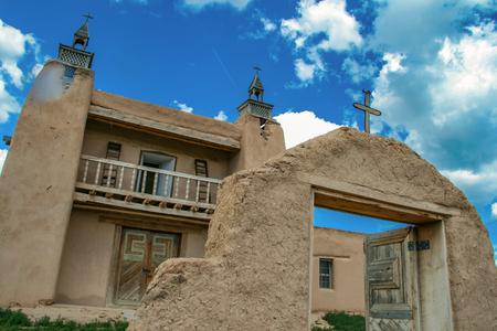 San Jose de Gracia Church in Las Trampas, New Mexico, USA Stock Photo