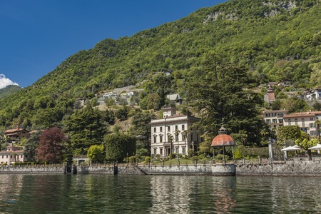 View at Moltrasio, a comune in Province of Como in the Italian region Lombardy Reklamní fotografie - 78727959