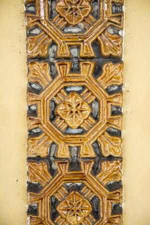 Close up detail view at Royal Palace in Hue, Vietnam