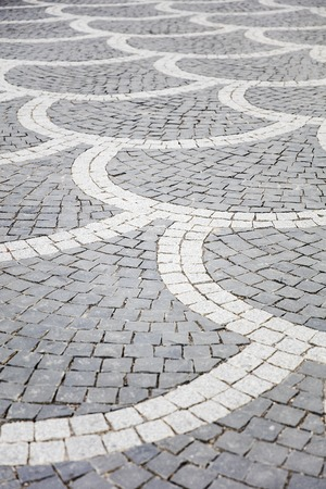 Brick pavement of  footpath pattern for background