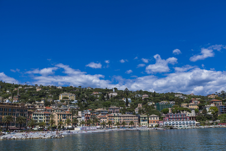 View at Santa Margherita Ligure from sea Stock Photo