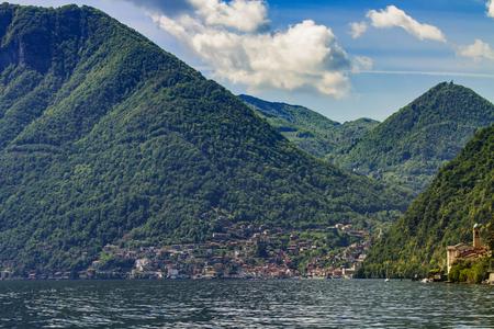 View at Colonno at Lake Como,Italy