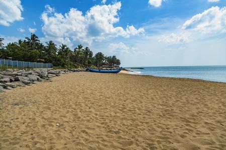 Detail of the sandy Negombo beach, Sri Lanka