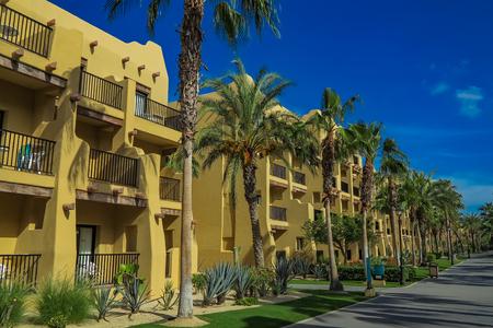 CABO SAN LUCAS, MEXICO - AUGUST 8, 2014: RIU Santa Fe Hotel at Cabo San Lucas, Mexico. It is a 5 star hotel at Baja California with 902 guest rooms.