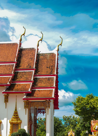 Detail from Wat Chalong temple in Thailand