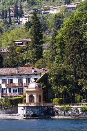 View at town Lenno on Como lake in Italy