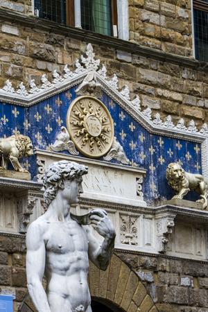 피렌체, 이태리 Statu del David 및 Palazzo Vecchio