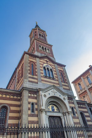 View at Chiesa di San Giovanni Evangelista in Turin, Italy Stock Photo