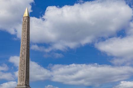 フランス、パリのコンコルドでルクソールのオベリスク