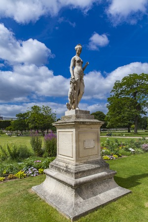 Statue Diana the Huntress by Louis Auguste Leveque at 1869 in Tuileries Garden in Paris, France Stock fotó