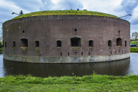 Detail of the Westbatterij in Muiden, Holland