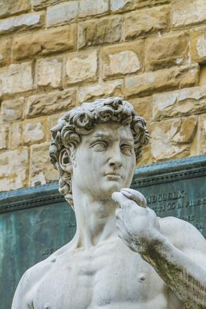 피렌체, 이태리 Statug 델 데이비드의 세부 사항 스톡 콘텐츠