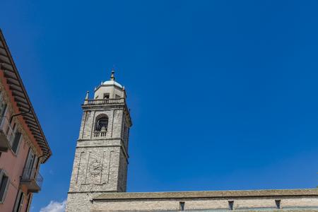 Detail of San Giacomo Church in Bellagio on Lake Como in Italy