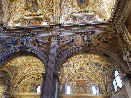 BERGAMO, ITALY - APRIL 28, 2017: Interior of Duomo di Bergamo in Italy. This cathedral is dedicated to Saint Alexander of Bergamo, patron saint of the city.