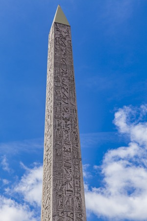 Luxor Obelisk at Place de la Concorde in Paris, France