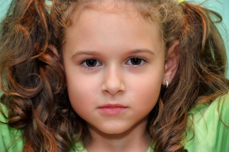 Potrait of curly hair little girl