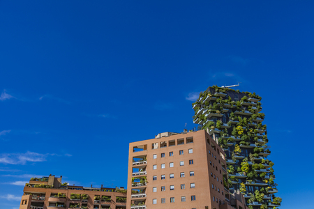 View at modern archtecture buildings in Milan, Italy